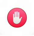 Privacy App icon Application button icon vector image