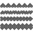 Set lace vector image