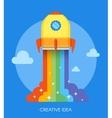 Space rocket launch concept vector image