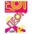This is neon vector image