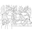 vegetables and fruits harvest style vector image