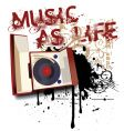 music as life vector image vector image