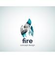 Fire logo template vector image