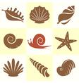 Shellfish and snail vector image vector image