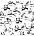 silhouette pattern vessel and ship design vector image