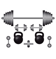 subjects to engage in bodybuilding vector image vector image