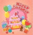 happy birthday 1year 380 vector image vector image