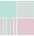 4 pastel seamless patterns vector image