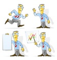 set of cartoon businessman vector image vector image