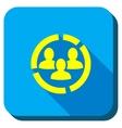 Customers Dialgram Longshadow Icon vector image