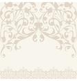 Elegant decorative khokhloma postcard frame vector image