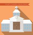 Flat design modern of chapel or wedding church vector image