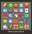 flat icon-set 4 vector image