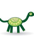 Funny dinosaur on white background vector image