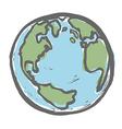 Hand drawn earth EPS8 vector image