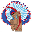 Indian Redskin with Bow vector image