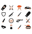 Military simply icons vector image