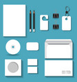 white mock ups for business vector image