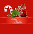 A Merry Christmas Background vector image vector image