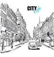 Sketch City Street vector image