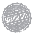 Mexico City stamp vector image