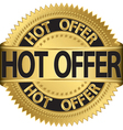 Hot offer Gold label vector image vector image