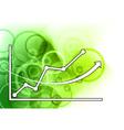 neon graph vector image vector image