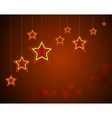 background with stars on a dark vector image
