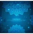 Abstract Aztec blue ornament vector image