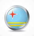 Aruba flag button vector image