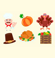 elements for graphic design for thanksgiving vector image