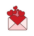 full of love letter graphic vector image