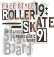 Skateboard Text Design vector image