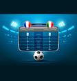 soccer score board vector image