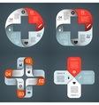 templates set for your medical project vector image