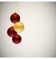 xmas balls vector image