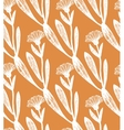 hand drawn calendula background vector image