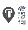 ATM Map Marker Flat Icon With Bonus vector image