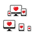 Responsive design icons monitor phone tablet vector image vector image