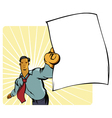 Man with paper vector image vector image