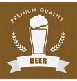 premium quality beer label vector image