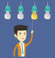 man having business idea vector image