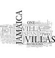 jamaica villa text background word cloud concept vector image vector image