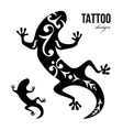gecko tattoo vector image