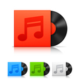 Vinyl records vector image