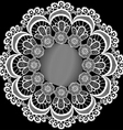 circular pattern with flowers from lace vector image
