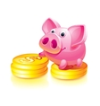 piggy bank guard vector image
