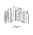 Singapore city skyline vector image