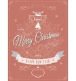 Christmas greeting scratched vector image vector image