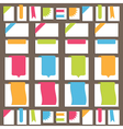 tabs and ribbons vector image vector image